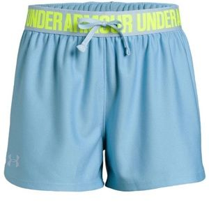 Girls Under Armour Play Up Shorts Youth Medium